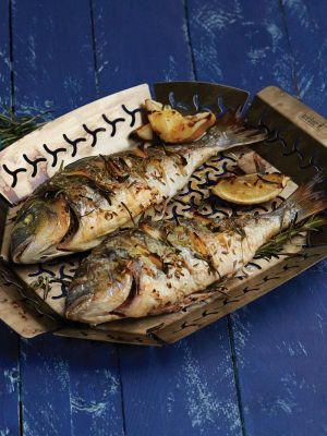 Whole Roast Fish With Fennel & Herb Salad